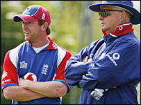 Paul Collingwood and Duncan Fletcher