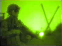 A US soldier at the site where the wall is being built (image courtesy of the US military)