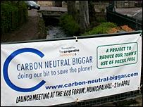 Carbon neutral sign