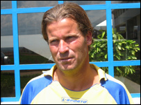 Swedish coach Roger Palmgren
