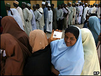 Voters queue in Katsina