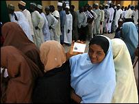 Voters queue in Katsina