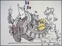 Chirac cartoon: Courtesy PLANTU, Le Monde newspaper