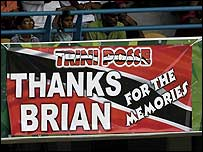 The Caribbean fans made their feelings known