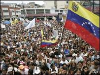 Protesta en Caracas contra el cierre de RCTV