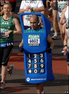Fun runner in the London marathon