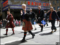 Holyrood's Presiding Officer George Reid at New York's Tartan Day parade