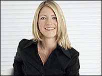 Match of the Day commentator Jacqui Oatley