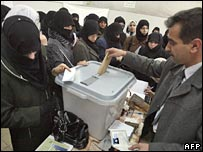 Syrians vote in Damascus