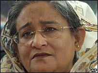 Sheikh Hasina in a file photo from December 2005