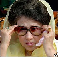 Khaleda Zia in a file photo from January 2007