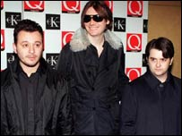 Manic Street Preachers - L-R: James Dean Bradfield, Nicky Wire, Sean Moore
