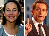 Segolene Royal (left) and Nicolas Sarkozy (right)