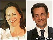 Ségolène Royal y Nicolas Sarkozy