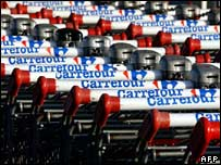 Carrefour trolleys