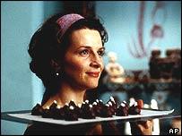 Scene from film adaptation of Joanne Harris's Chocolat