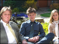 Tim Blackman, his son Rupert and daughter Sophie