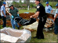 Body being exhumed in Tennessee