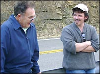 Todd Mathews with his father-in-law Wilbur