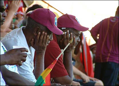 Amanda Bevan sent us a selection of photos - this first one shows disgruntled West Indies fans watching their team against South Africa