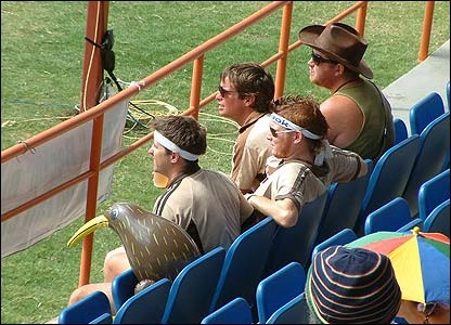 Amanda's second offering shows New Zealand fans engrossed in their Super 8 match against South Africa