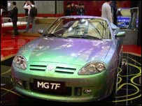 An MG car at the Shanghai Motor Show