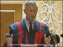 Prince Charles in robes
