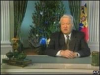 Yeltsin anuncia su renuncia el 31 de diciembre de 1999.