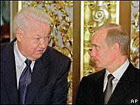 Boris Yeltsin y Vladimir Putin