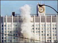 Parlamento ruso bajo ataque.