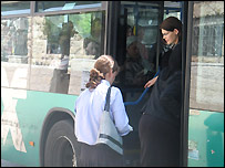 "Woman gets on ""modesty bus"" in Israel"
