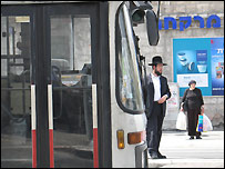 """Modesty bus"" in orthodox Jewish neighbourhood in Israel"