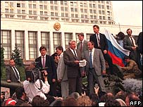 Boris Yeltsin, pictured in 1991