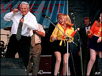 Boris Yeltsin dancing