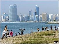 The beach in Dubai