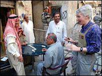 Ryan Crocker speaks to Baghdad residents