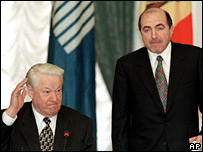 Boris Yeltsin and Boris Berezovsky