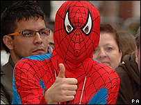 Many fans donned Spider-Man outfits for the occasion