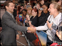 Tobey Maguire at the UK premiere of Spider-Man 3