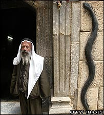 Yazidi man at the Sheikh Adi shrine in northern Iraq