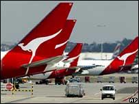 Qantas tailfins