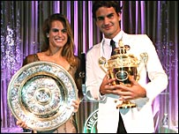 Amelie Mauresmo and Roger Federer