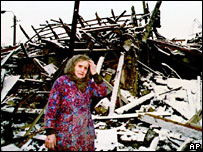 Chechen woman in distress