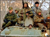 Russian special forces in Chechnya in 1999