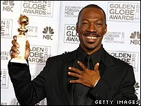 Eddie Murphy at the Golden Globe Awards