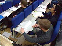 university lecture theatre