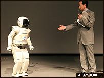 Robot en exhibición en Japón.