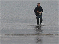 Sepa officer at Portobello Beach