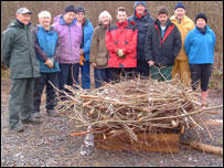 Volunteers helped build the osprey nest (picture: Montgomeryshire Wildlife Trust)