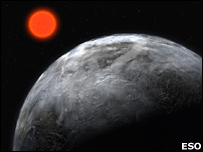 Artist's impression of a planet around Gliese 581 (Eso)